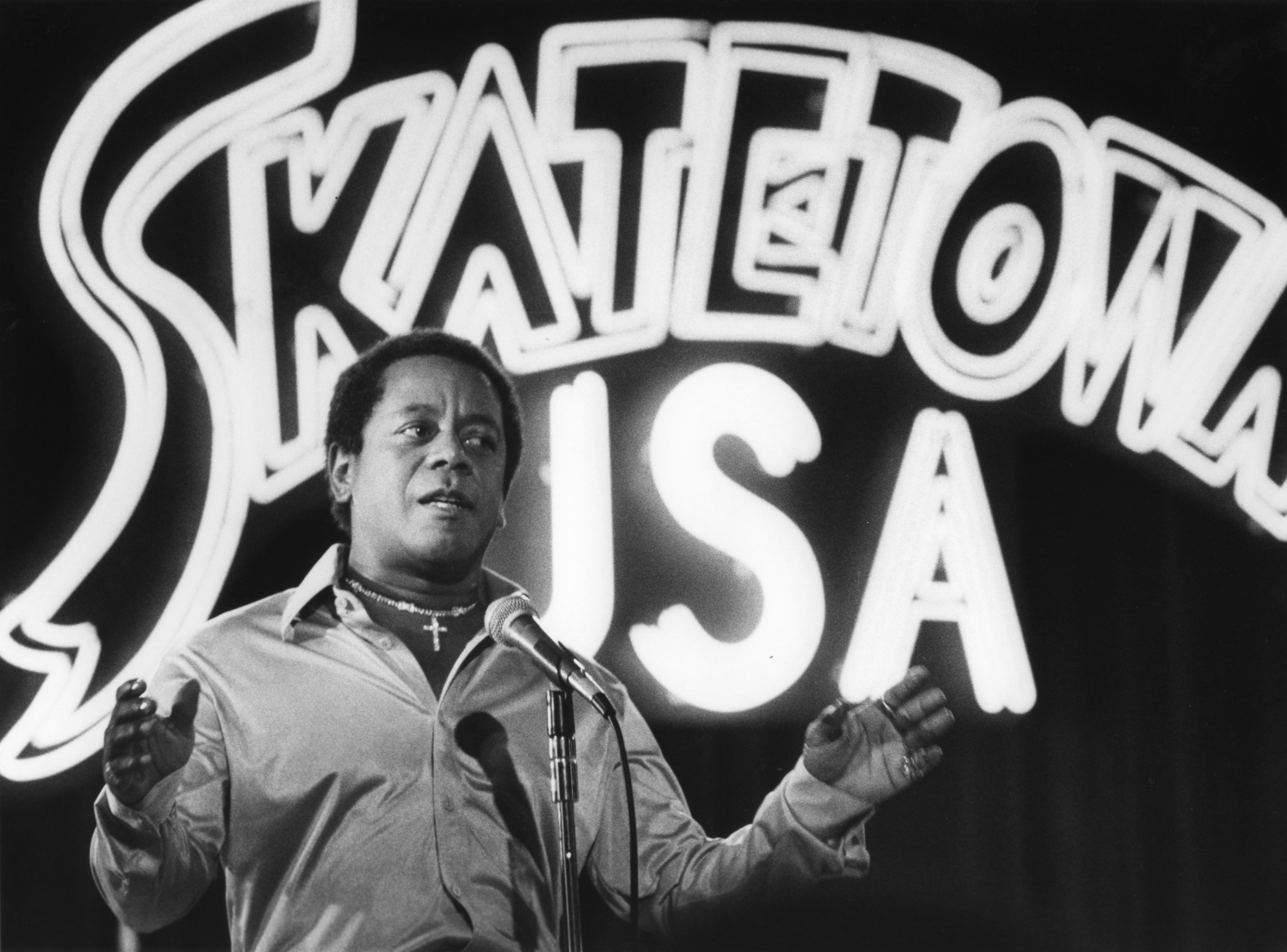 "Flip Wilson plays both the co-owner of a roller rink and his wife in ""Skatetown, U.S.A."" 