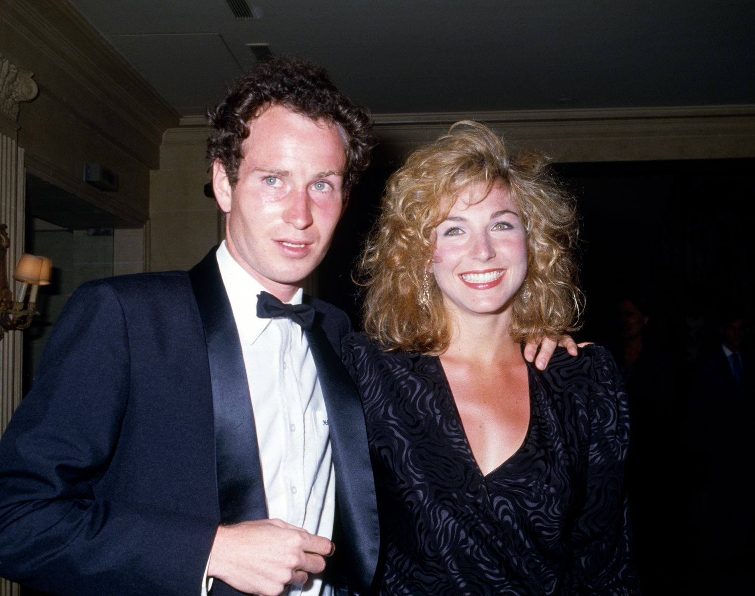 John McEnroe and Tatum O'Neal at the Players' Evening at the French Open Tennis Championships in 1985 | Source: Getty Images