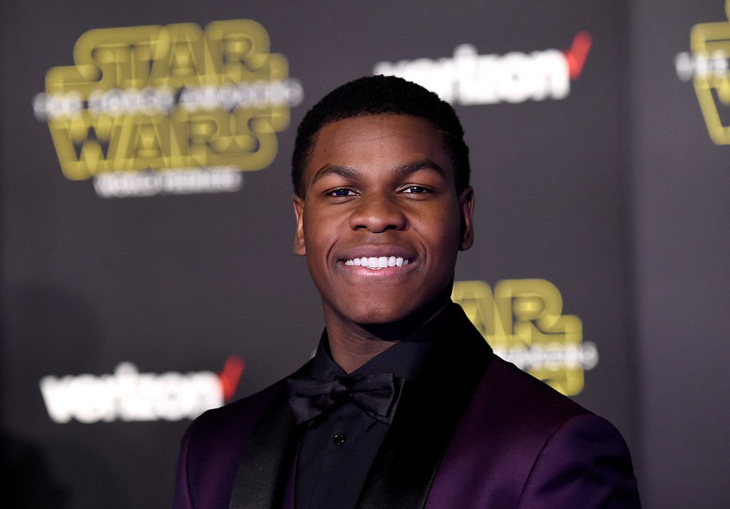"""John Boyega attends the premiere of """"Star Wars: The Force Awakens"""" on December 14, 2015, in Hollywood, California. 