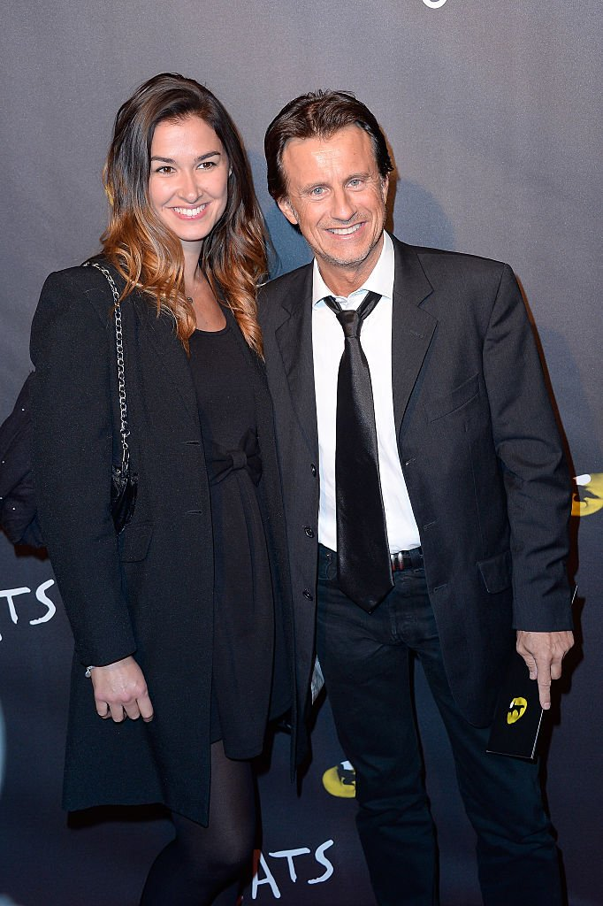 Vincent Perrot et Virginie le 1er octobre 2015 à Paris. l Source : Getty Images