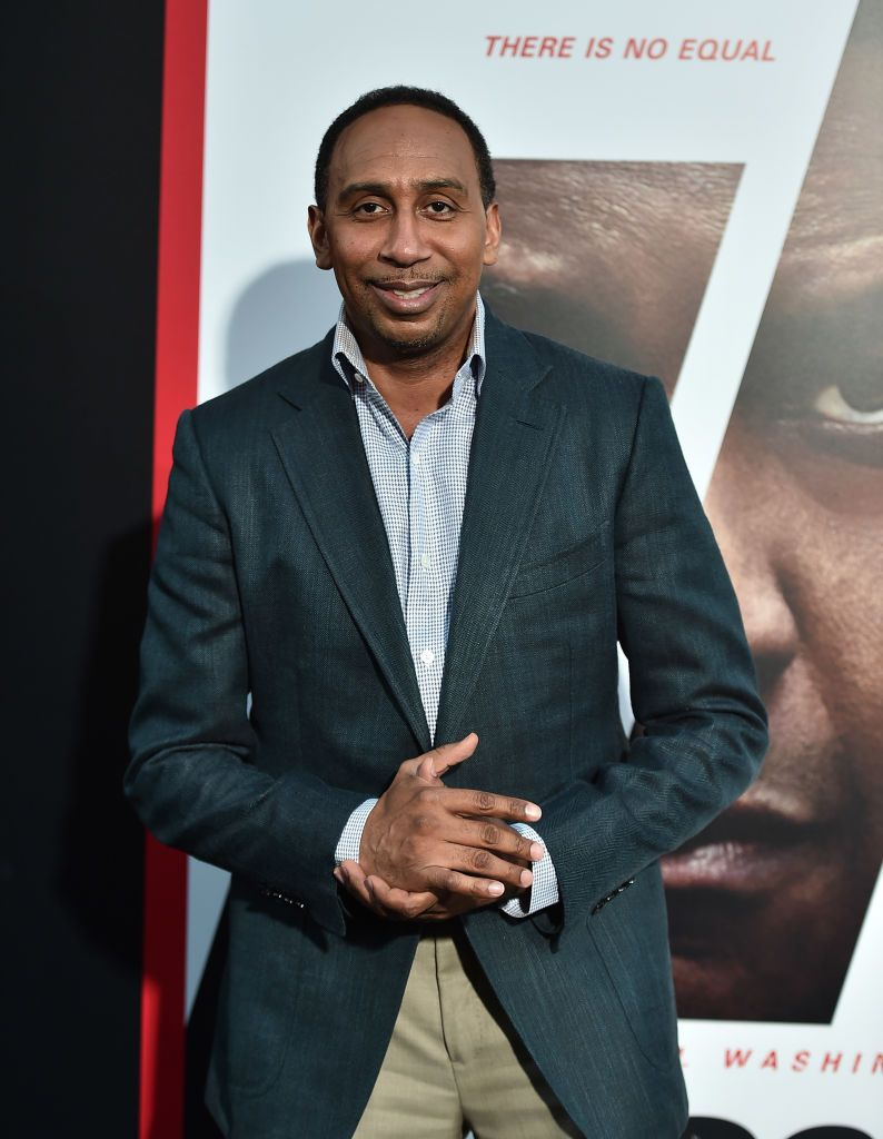 """Stephen A. Smith at the premiere of """"Equalizer 2"""" on July 17, 2018 in Hollywood. 