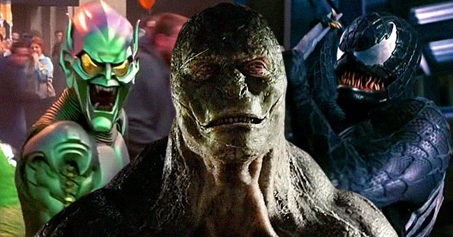 """The Green Goblin, Lizard and Venom,all villains from differnt """"Spider-Man"""" movies 