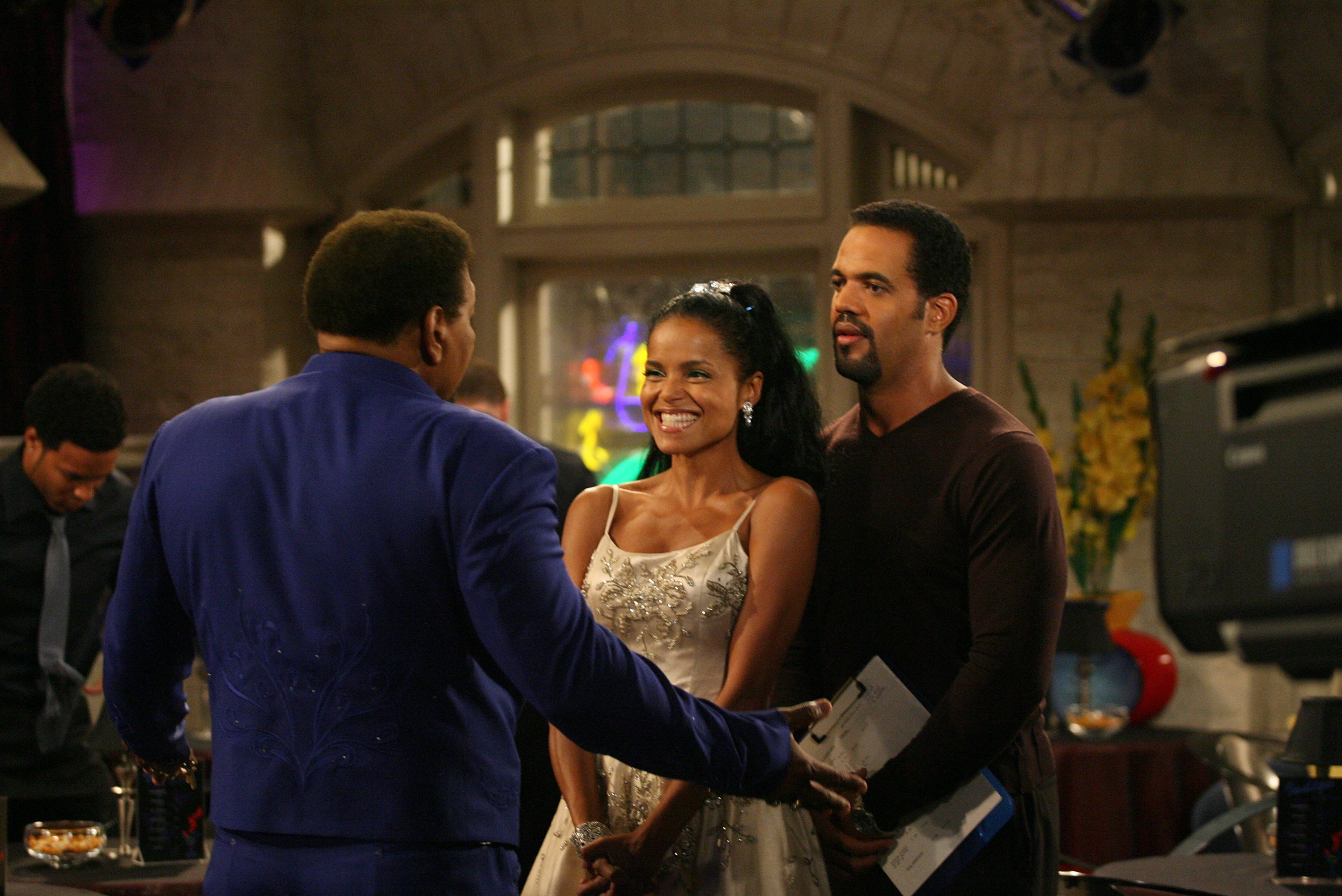 "Kristoff St. John and Victoria Rowell in ""The Young and The Restless"" 