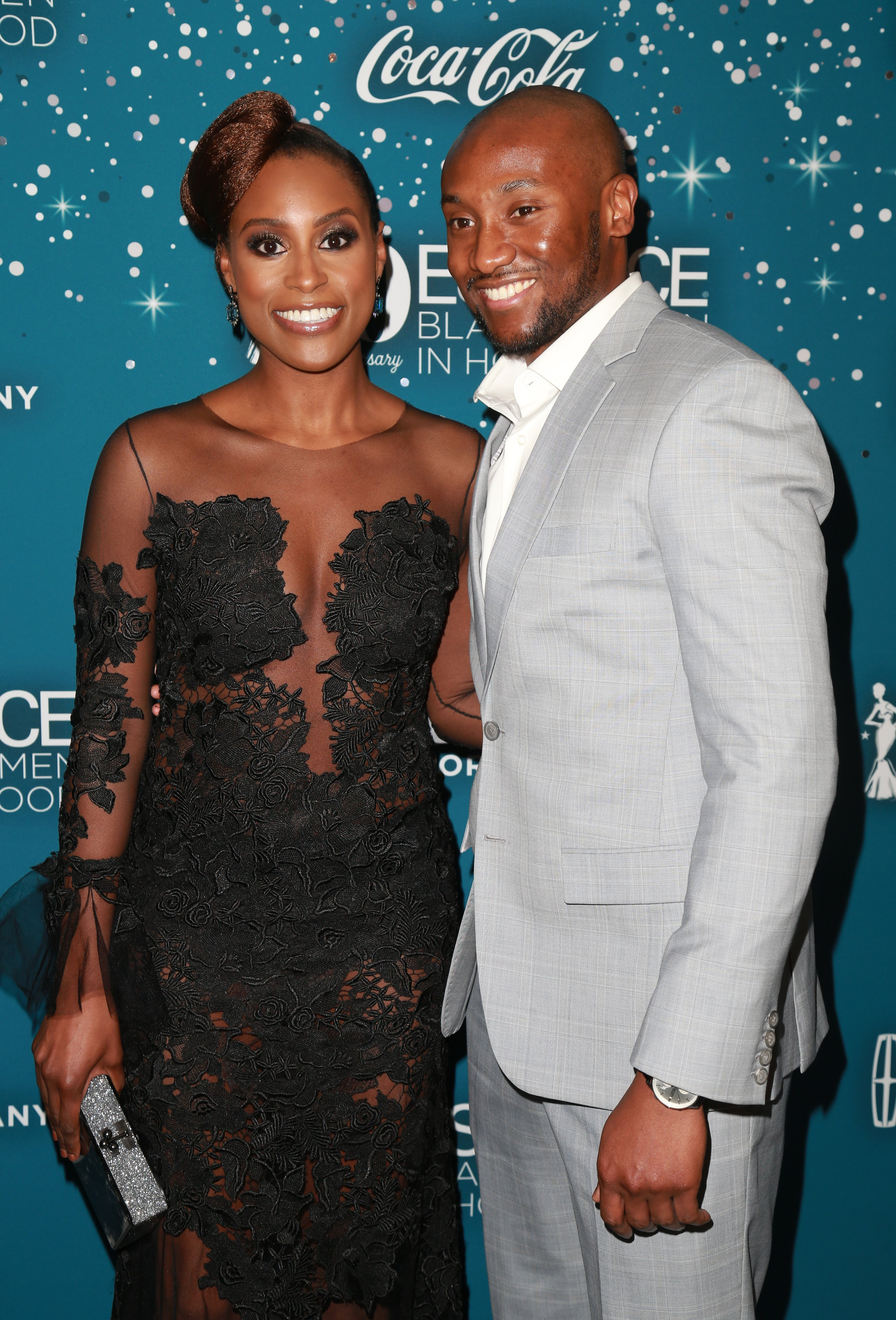 Issa Rae and Louis Diame at Essence Black Women in Hollywood Awards at the Beverly Wilshire Four Seasons Hotel on February 23, 2017. | Photo: Getty Images