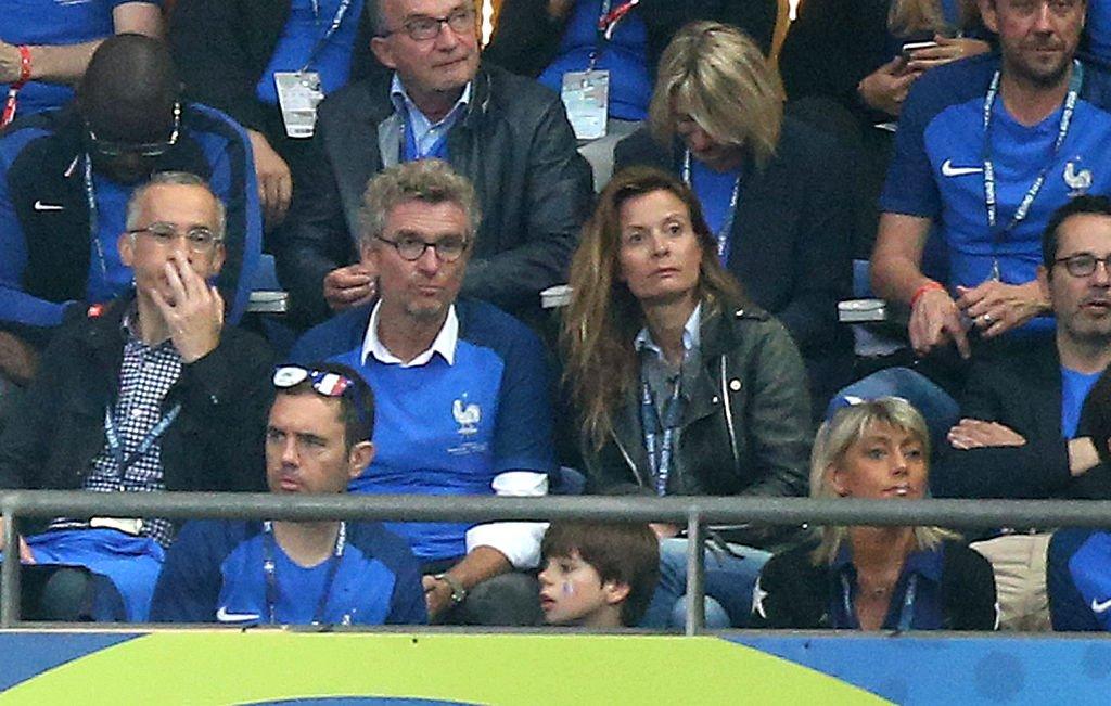 Denis Brogniart et sa femme Hortense Brogniart. l Source : Getty Image