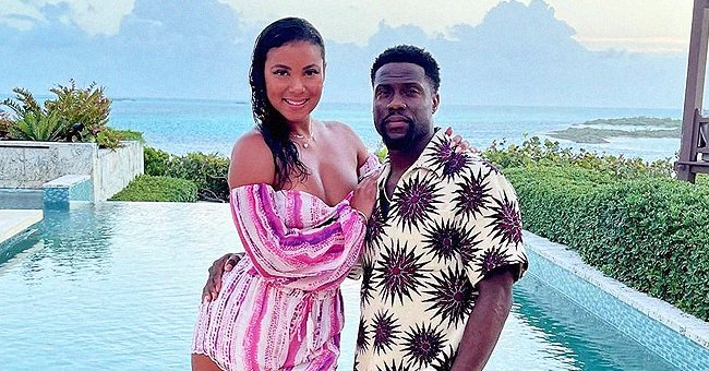 Kevin Hart's Wife Eniko Shows off Her Deep Cleavage in a Pink Jumpsuit Posing with Him in New Photo