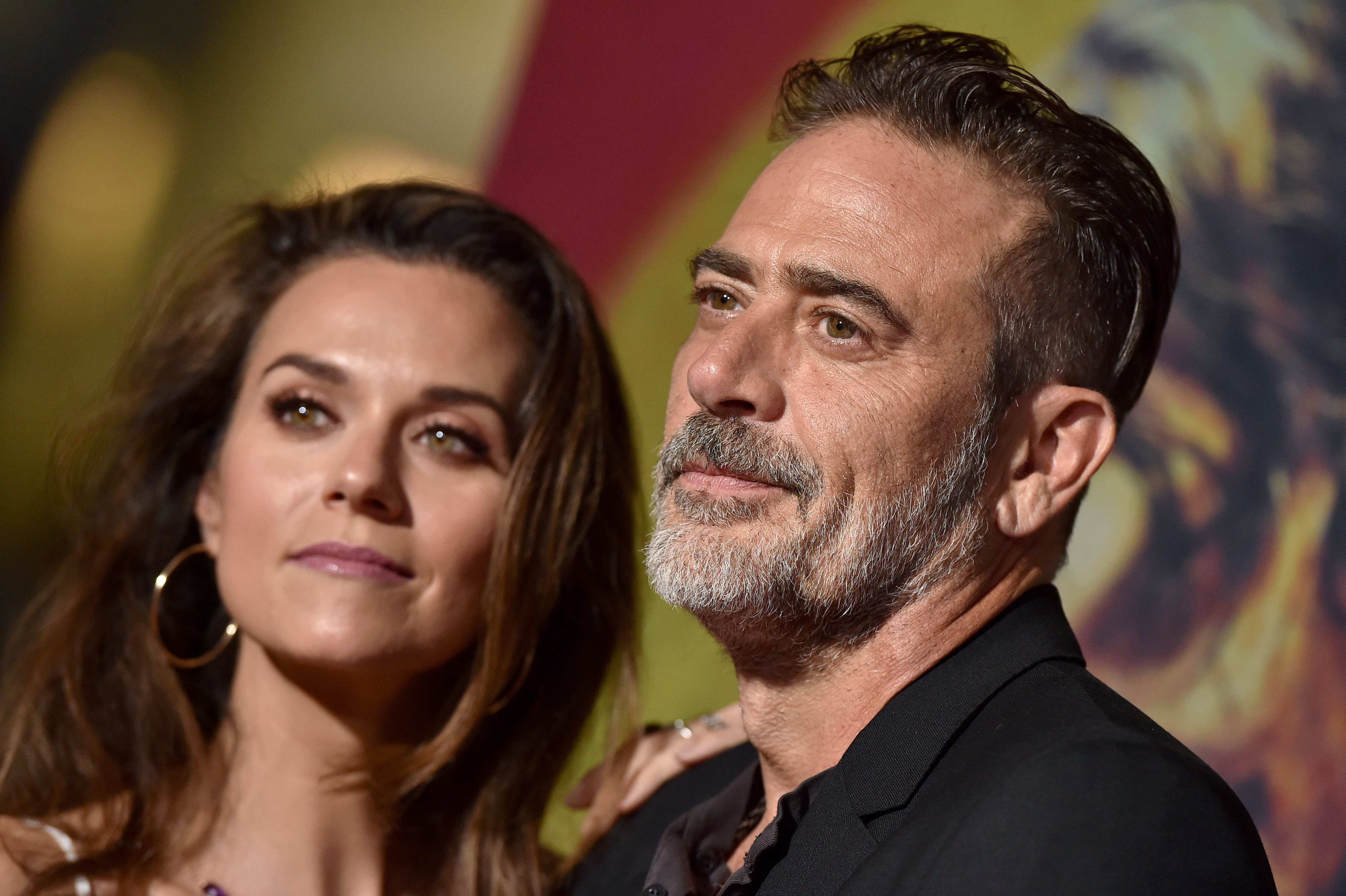 """Hilarie Burton and Jeffrey Dean Morgan at the Special Screening of AMC's """"The Walking Dead"""" Season 10 at Chinese 6 Theater in Hollywood, California 