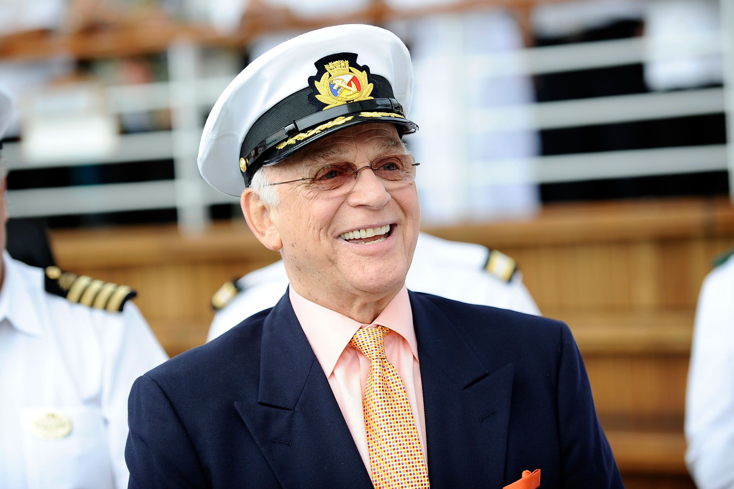 "Gavin MacLeod, Captain Stubing From ""The Love Boat"", celebrates his 80th Birthday on board the Golden Princess in 2011 