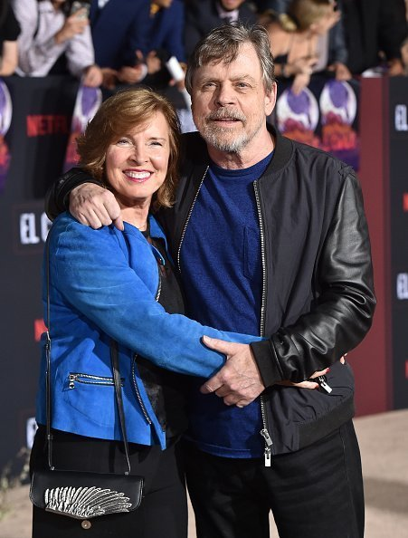 Marilou York and Mark Hamill at Regency Village Theatre on October 07, 2019 in Westwood, California. | Photo: Getty Images
