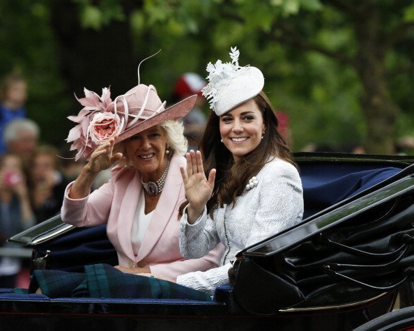 Camilla et Catherine au Trooping the Colour au Royal Horseguards le 14 juin 2014 | Photo : Getty Images