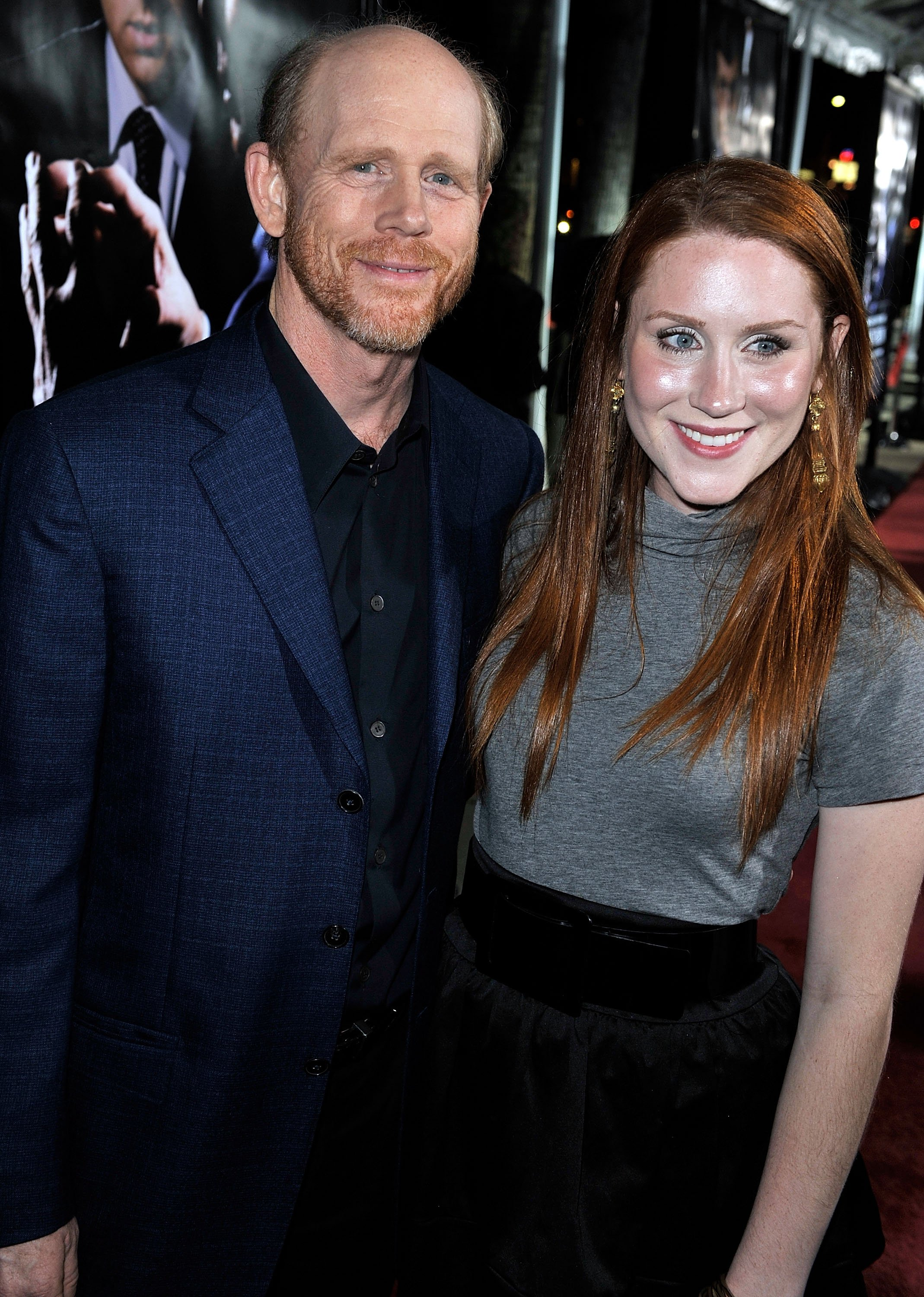 """Director Ron Howard (L) and his daughter Paige arrive at the premiere of Universal's """"Frost/Nixon"""" held at the Academy of Motion Picture Arts and Sciences' Samuel Goldwyn Theater on November 24, 2008 in Los Angeles, California.   Source: Getty Images"""