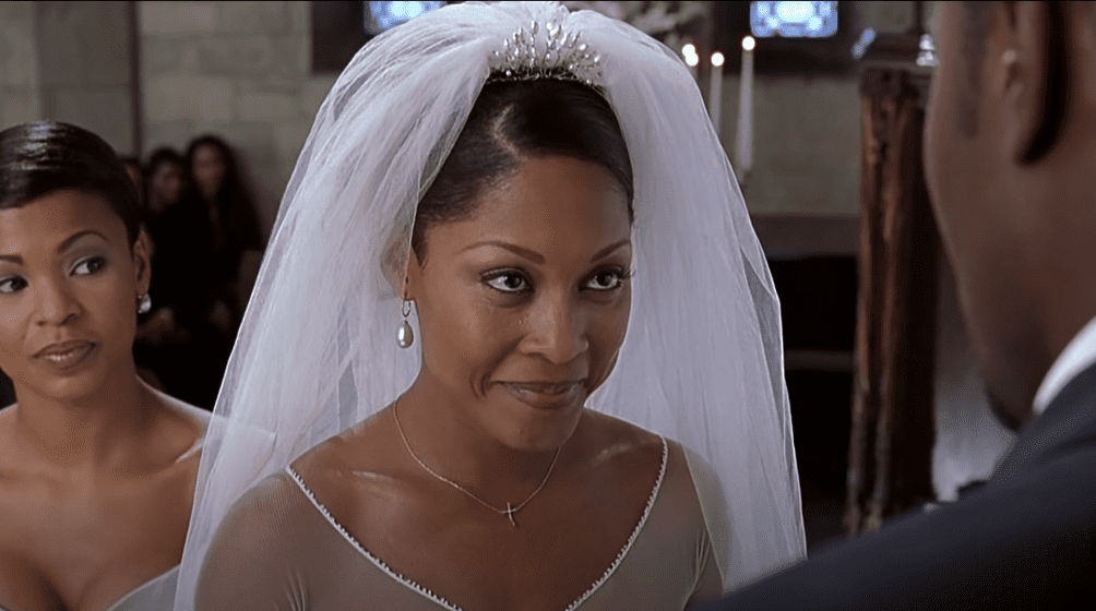 """Monica Calhoun acting as Mia from a scene from """"The Best Man""""   Photo: YouTube/movieclips"""