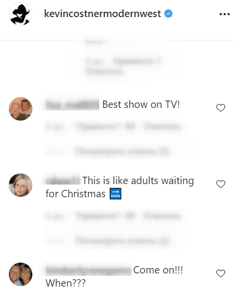 Fans reactions to news of the release of season 4 of Yellowstone  Source : Instagram/Kevincostnermodernwest