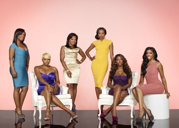 Kandi Burruss, NeNe Leakes, Phaedra Parks, Cynthia Bailey, Kenya Moore, Porsha Stewart posing for a photo for The Real Housewives of Atlanta | Photo: Getty Images