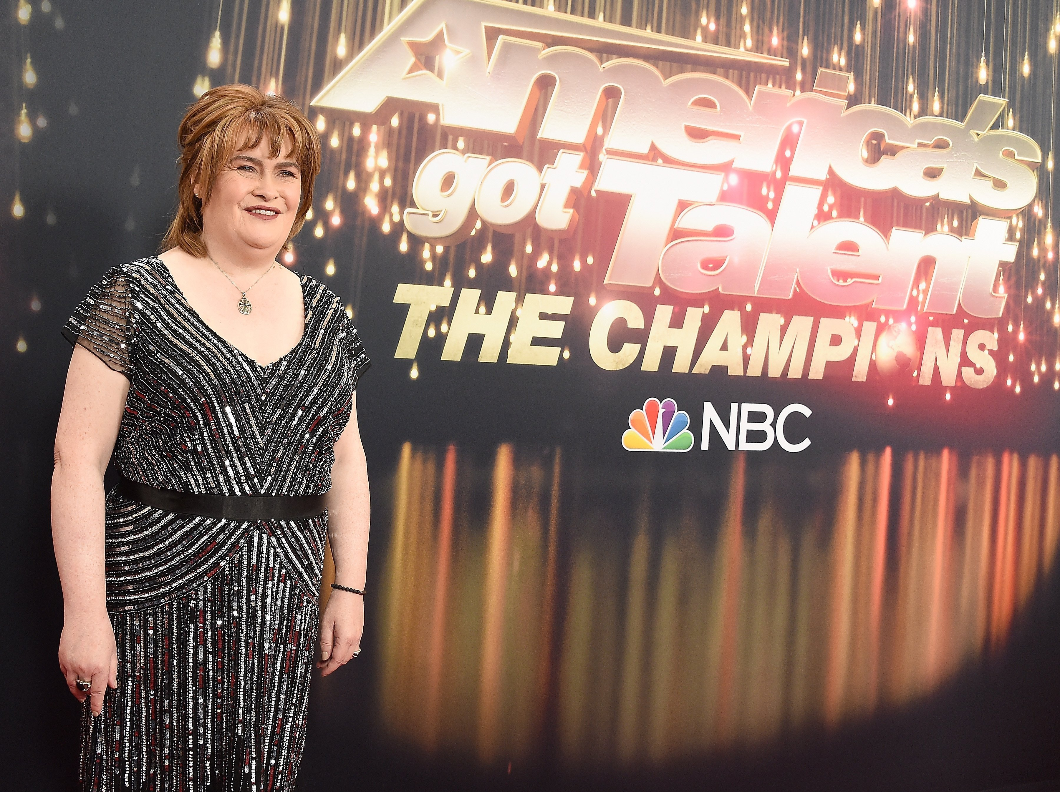 """Susan Boyle at the """"America's Got Talent: The Champions"""" Finale in California 