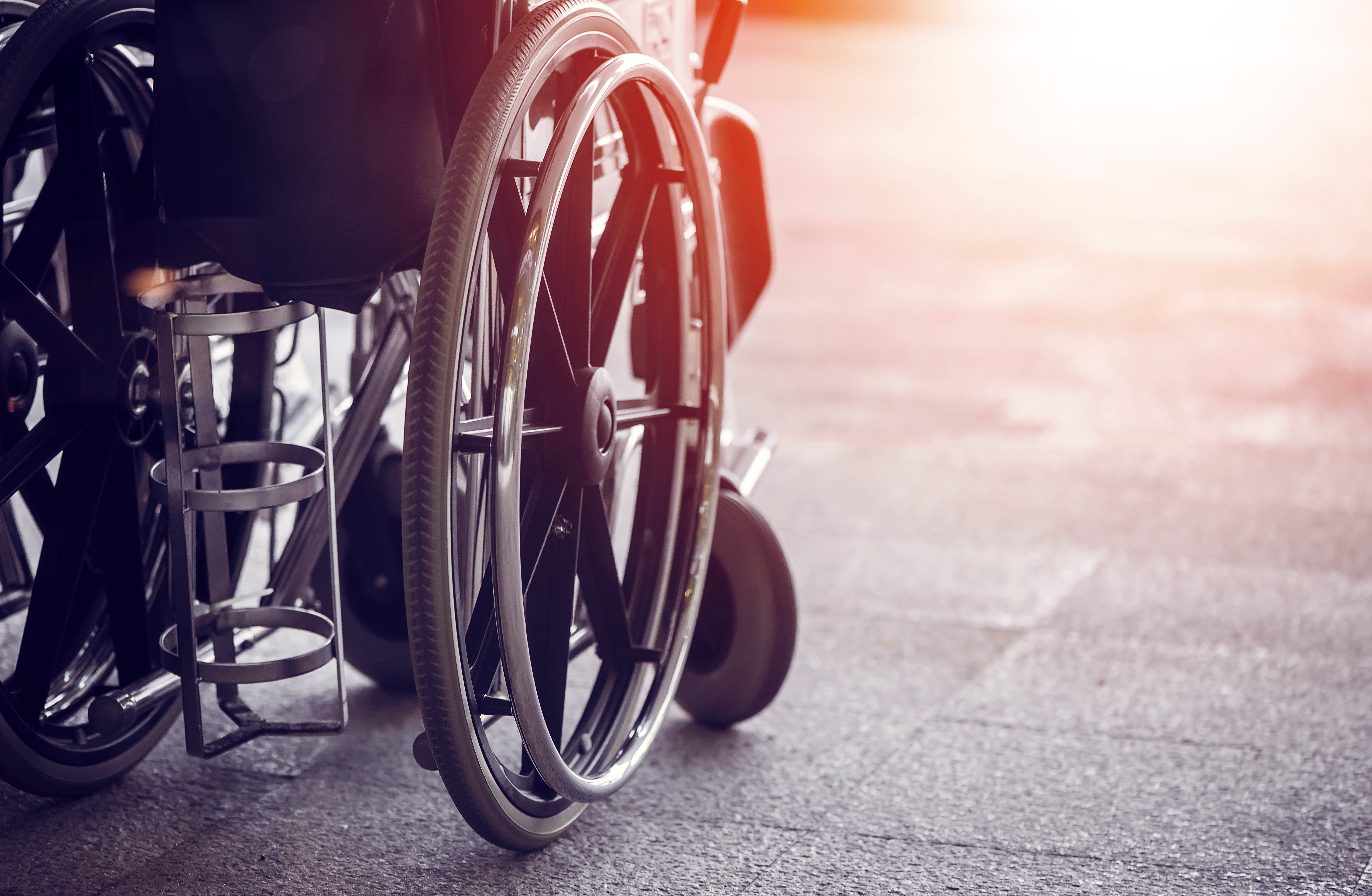Silla de ruedas. Fuente: Shutterstock