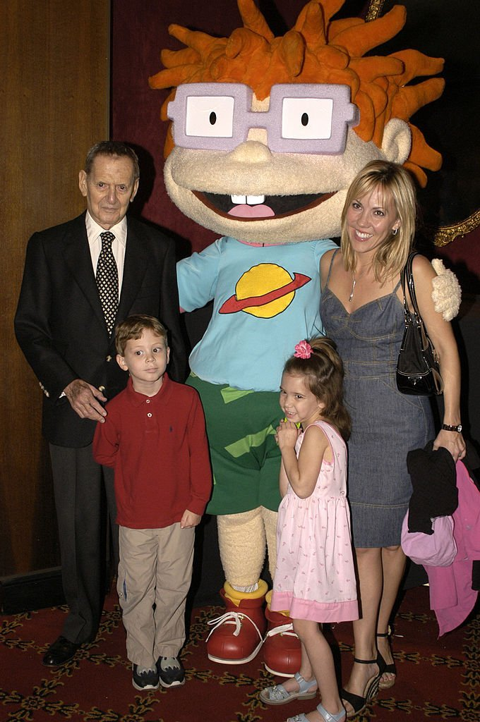"Tony Randall and his family at a special screening of ""Rugrats Go Wild"" on June 5, 2003 