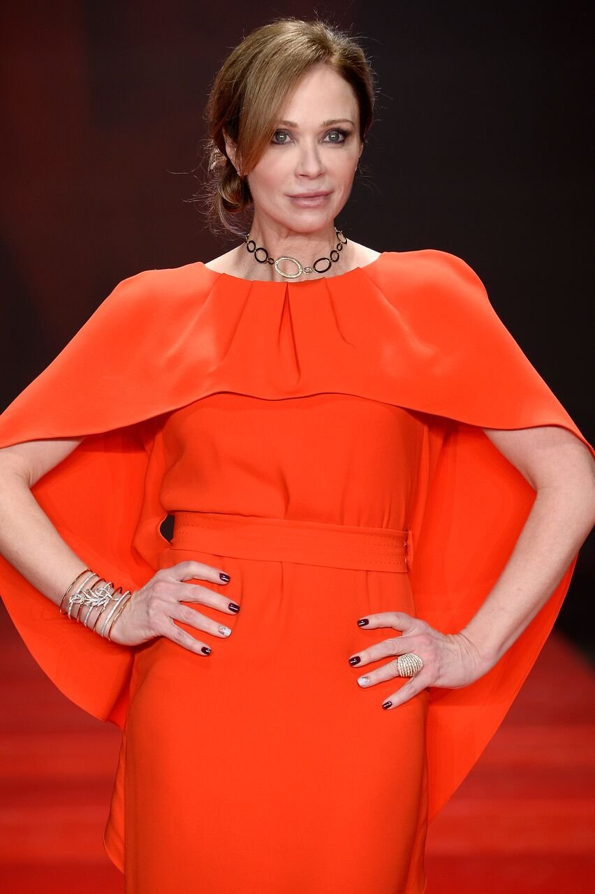 Lauren Holly walks the runway at the American Heart Association's Go Red For Women Red Dress Collection 2017. | Source: Getty Images
