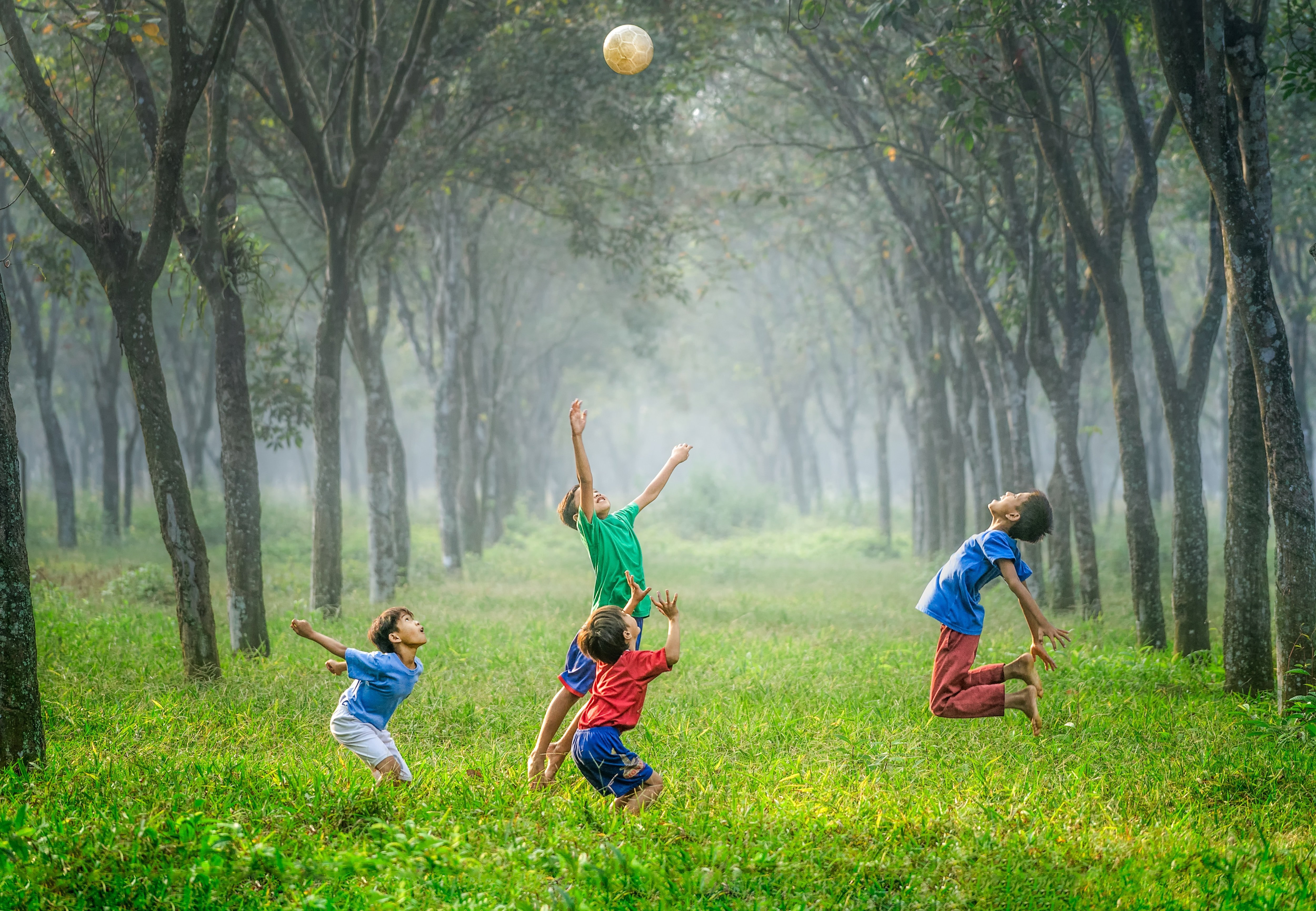 Children playing outdoors.  | Source: Unsplash