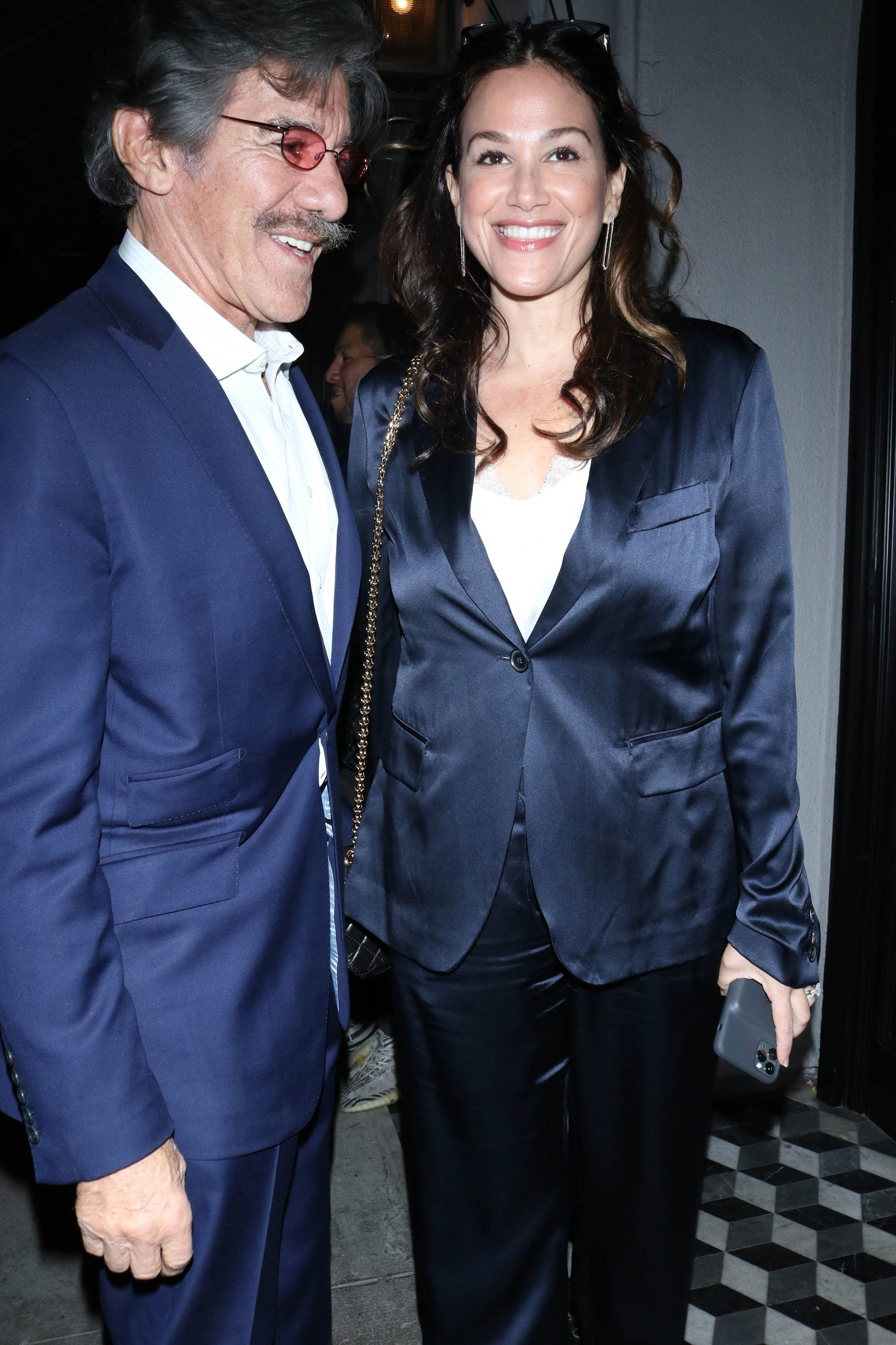 Geraldo Rivera and Erica Levy on February 1, 2020 in Los Angeles, California | Source: Getty Images