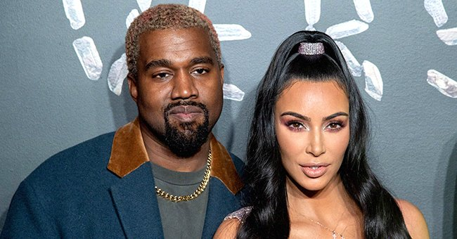 Kanye West and Kim Kardashian West attend the the Versace fall 2019 fashion show, December 2018   Source: Getty Images