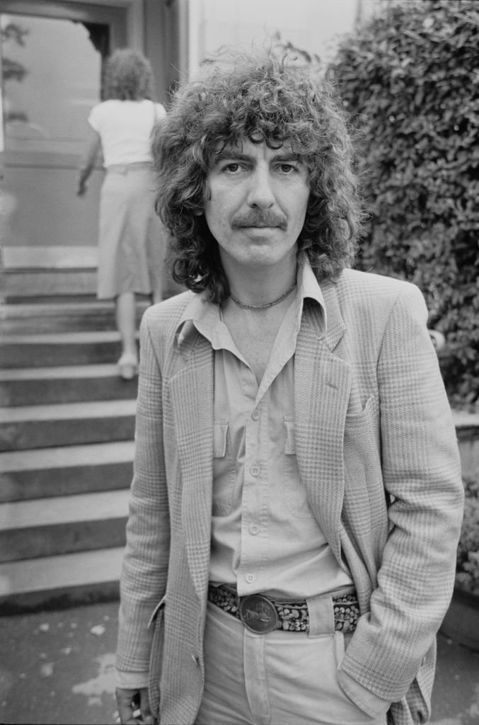 Former Beatle, musician George Harrison (1943 - 2001), pictured a few days after the birth of his son Dhani, UK, 4th August 1978.  | Getty Images / Global Images Ukraine