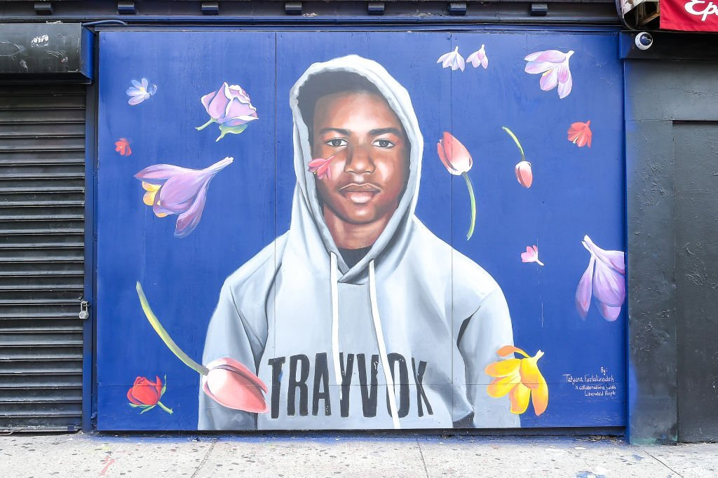 A view of the Trayvon Martin mural at the Trayvon Martin Mural Unveiling | Photo: Getty Images