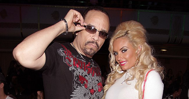 See a Sweet Throwback Pic of Coco Austin Looking Cool in a White Outfit While Posing with Ice-T