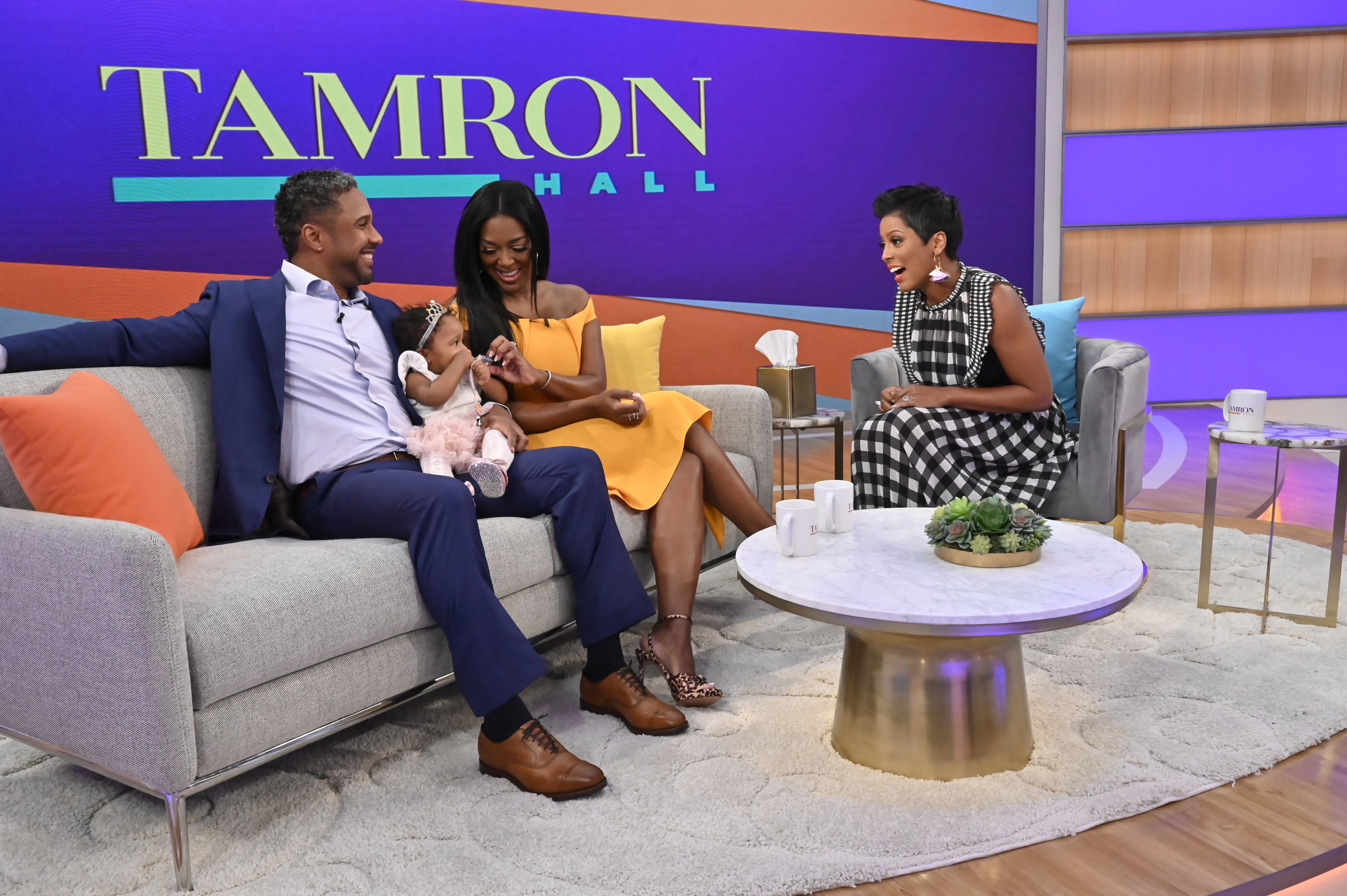 An emotional hour on IVF with Tamron Hall, Kenya Moore, Marc Daly and their daughter Brooklyn   Photo : Getty Images