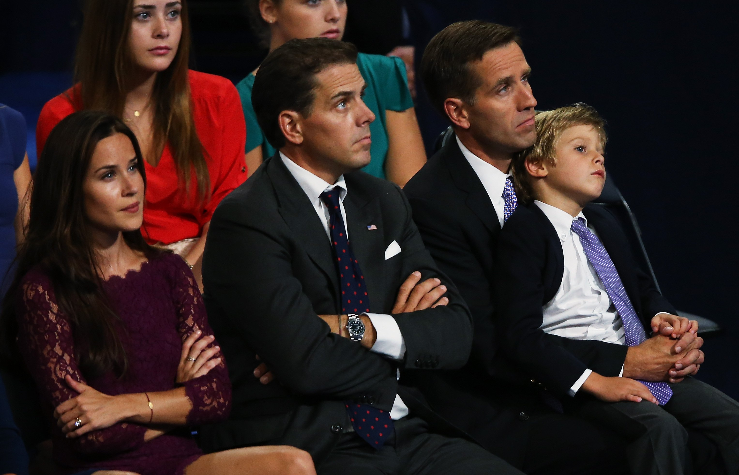 "Hunter Biden with late brother Joseph ""Beau"" Biden at the Democratic National Convention at Time Warner Cable Arena in Charlotte, North Carolina 