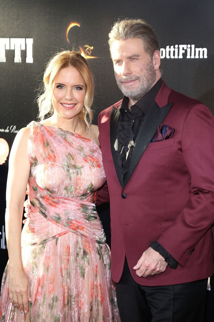 "Kelly Preston and John Travolta attend the New York Premiere of ""Gotti"" at SVA Theater 