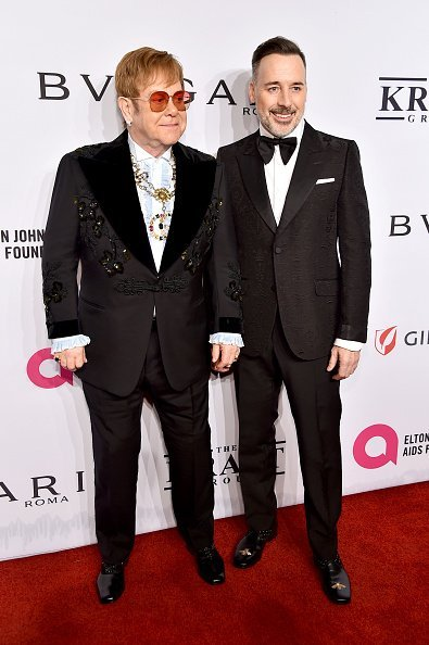 Elton John and David Furnish attend the Elton John AIDS Foundation's 17th Annual An Enduring Vision Benefit at Cipriani | Photo: Getty Images