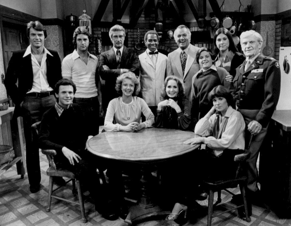 """Billy Crystal with the cast of """"Soap"""" in 1977 