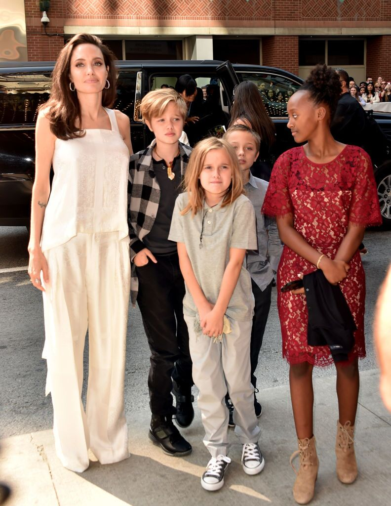 "Angelina Jolie, Shiloh Jolie-Pitt, Vivienne Jolie-Pitt, Knox Leon Jolie-Pitt, and Zahara Jolie-Pitt attend ""The Breadwinner""  premiere 