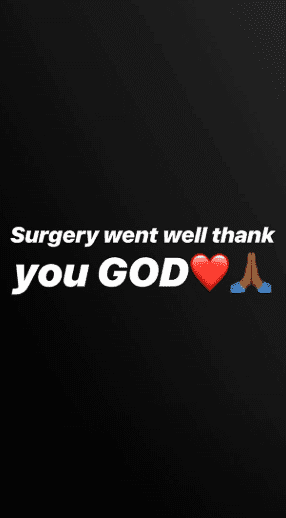 Alexis Skyy telling her followers that the surgery went well | Source: Instagram Stories/Alexis Skyy