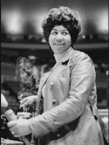 """Aretha Franklin rehearses for the """"Soul Together"""" show in New York City on June 28, 1968 