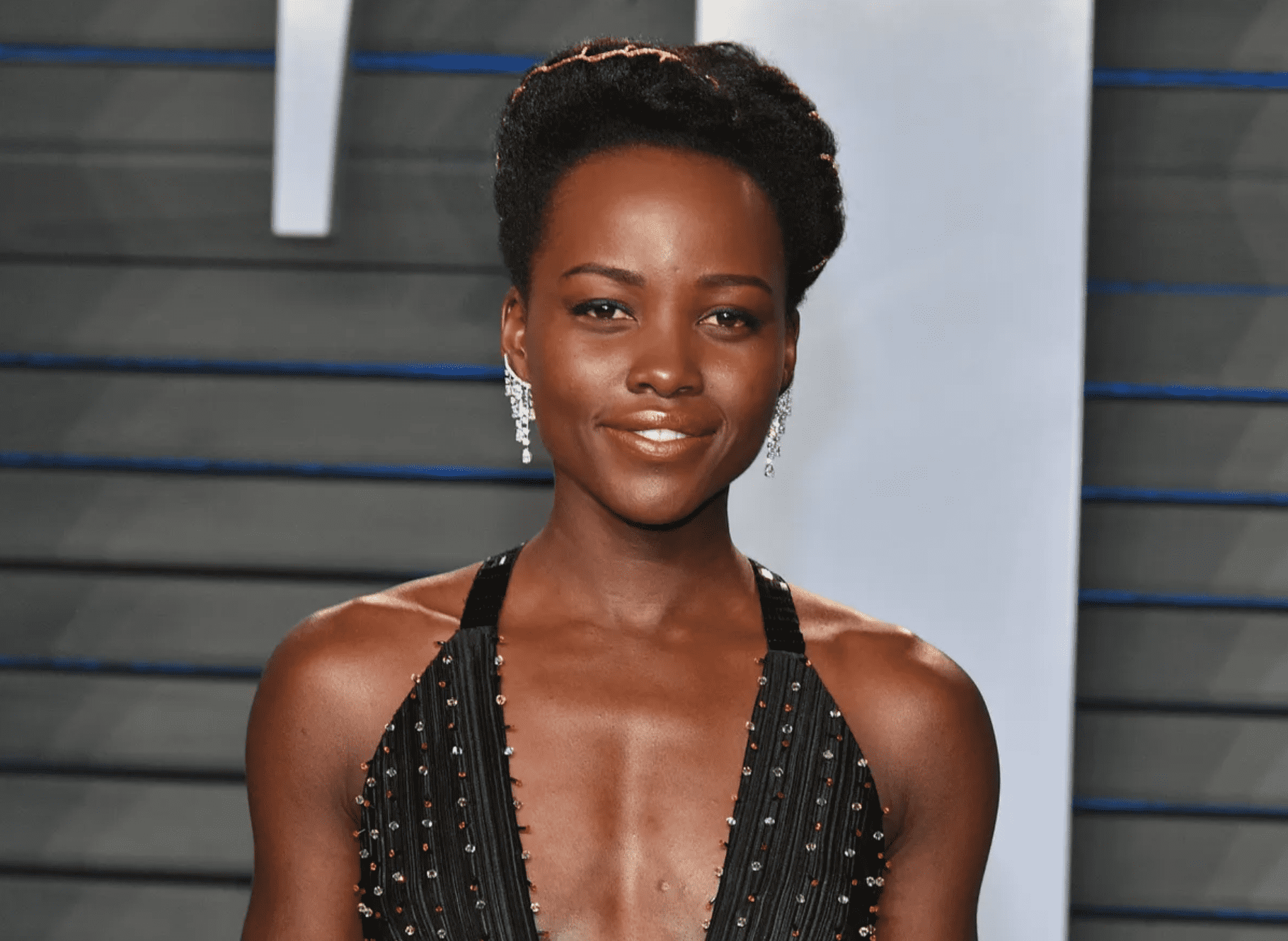 Lupita Nyong'o attends the Vanity Fair Oscar Party in Beverly Hills, California on March 4, 2018. | Source: Getty Images