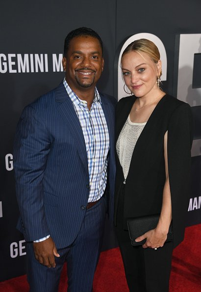 "Alfonso Ribeiro and Angela Unkrich at the premiere of ""Gemini Man"" in Hollywood 