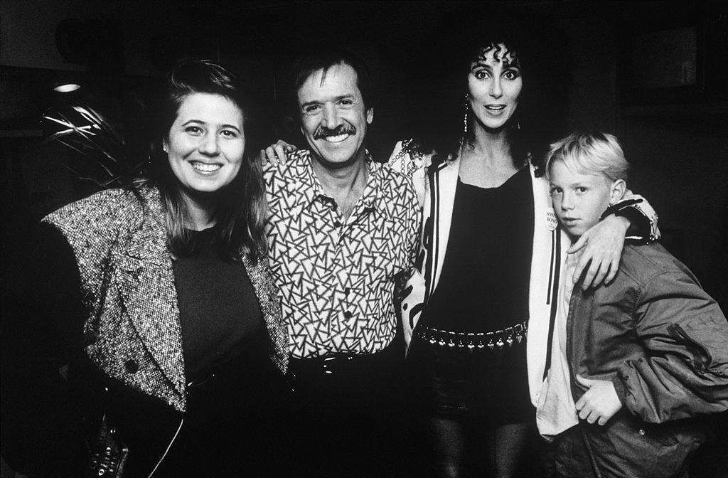 r Cher with ex husband, Sonny Bono, and their daughter, Chastity Bono, along with Cher's son, Elijah Blue Allman   Getty Images / Global Images Ukraine