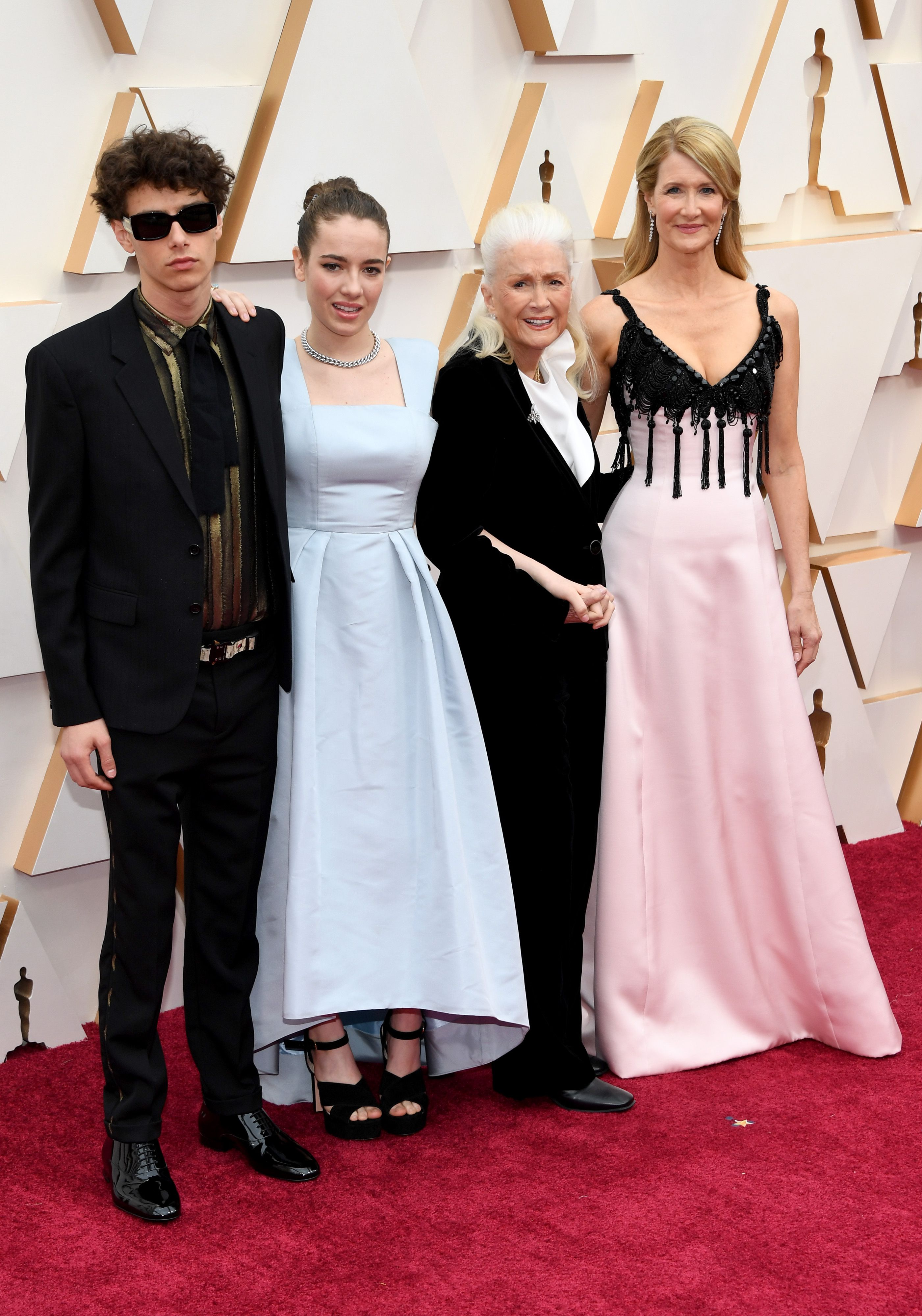 (L-R) Ellery Harper, Jaya Harper, Diane Ladd and Laura Dern during the 92nd Annual Academy Awards at Hollywood and Highland on February 09, 2020 in Hollywood, California.   Source: Getty Images