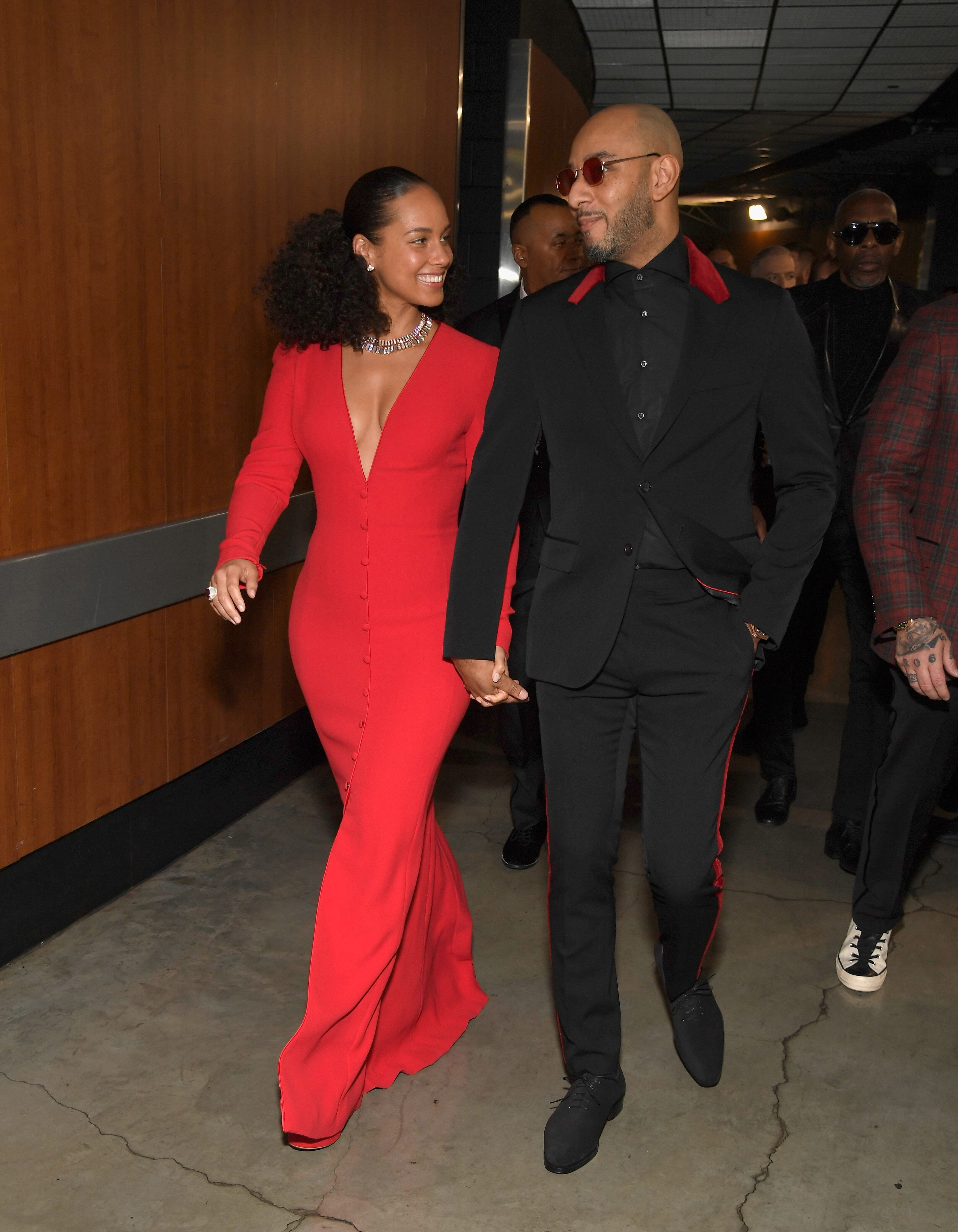 Alicia Keys and husband rapper Swizz Beatz at the 61st Annual GRAMMY Awards in 2019   Source: Getty Images