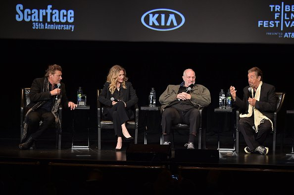 Steven Bauer, Michelle Pfeiffer, Brian De Palma, and Al Pacino at Beacon Theatre on April 19, 2018 in New York City. | Photo: Getty Images