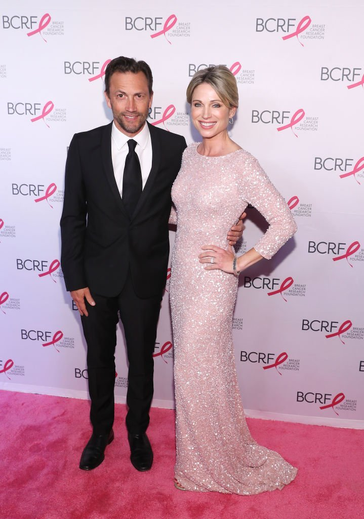 Andrew Shue and Amy Robach. Image Credit: Getty Images