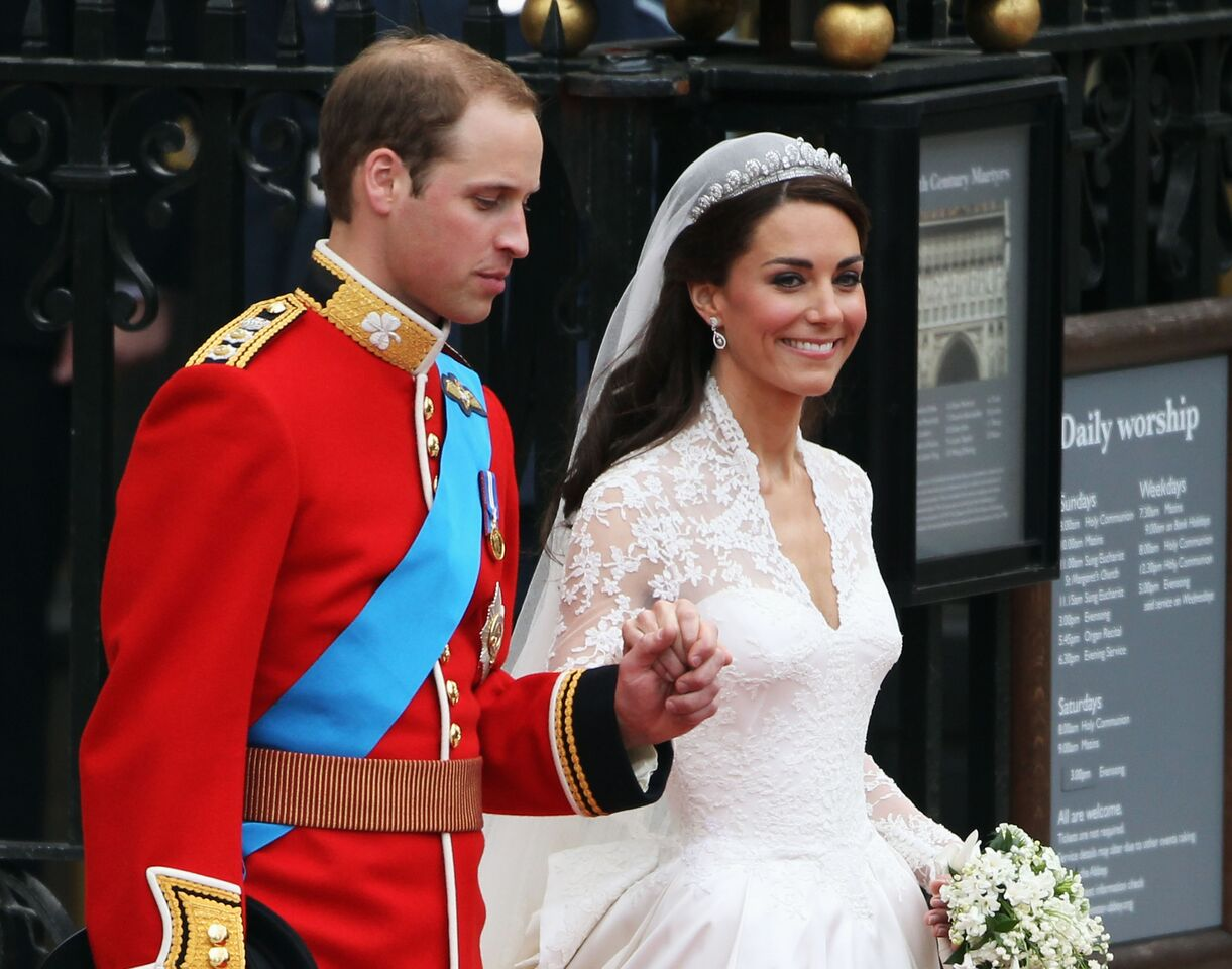 Prince William and Kate Middleton's wedding day.   Source: Getty Images