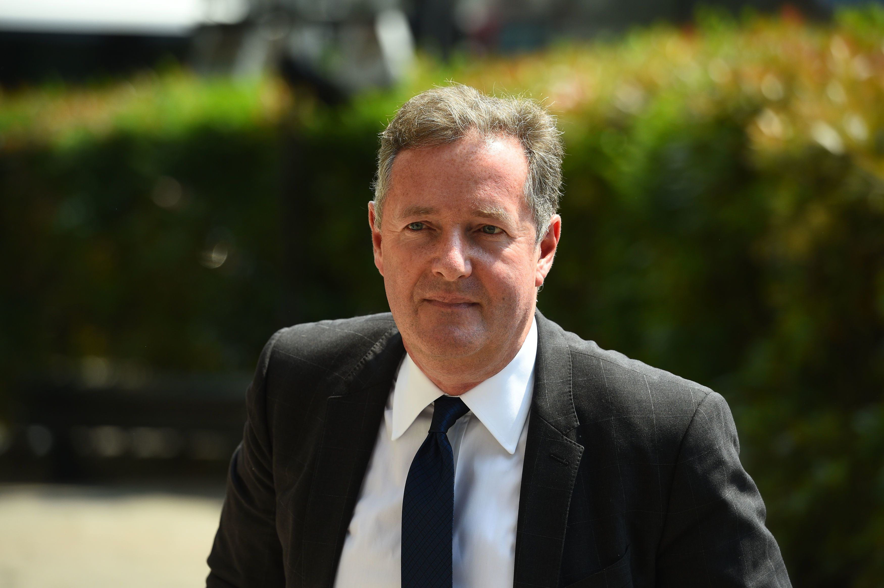Piers Morgan at Old Church, 1 Marylebone Road in London for the funeral of Supermarket Sweep star Dale Winton on May 22, 2018 | Photo: Getty Images