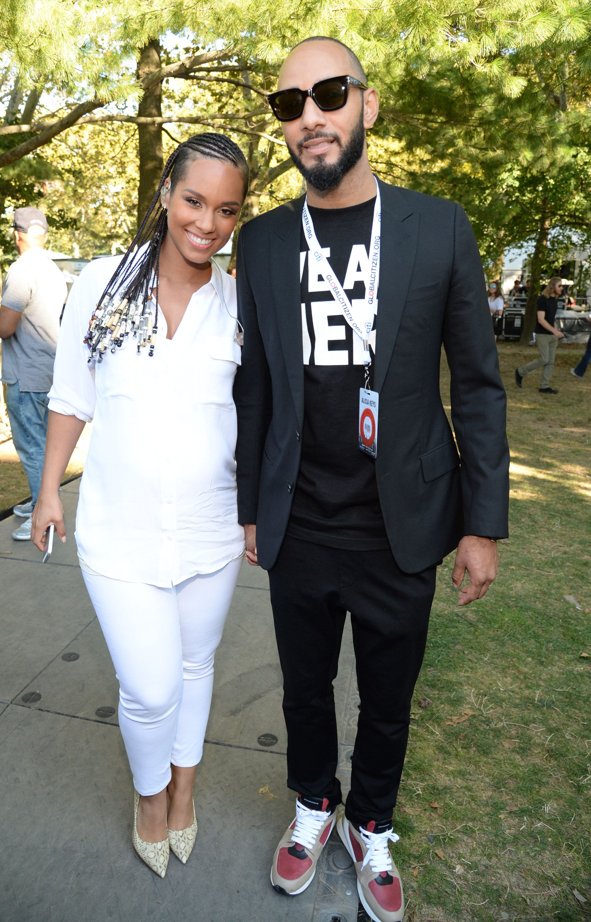 Alicia Keys and Swizz Beatz during the 2014 Global Citizen Festival at Central Park on September 27, 2014 in New York City. | Source: Getty Images