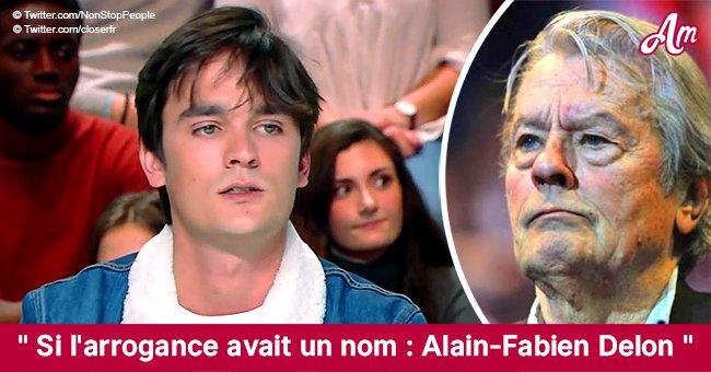L'interview du fils d'Alain Delon provoque la colère des internautes (Tweets)