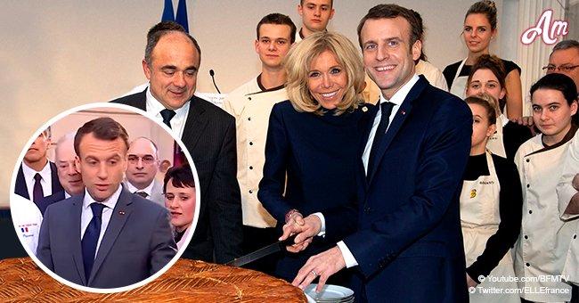 Emmanuel Macron a oublié la règle d'une tradition vieille de 43 ans lors de la dégustation de la galette à l'Elysée