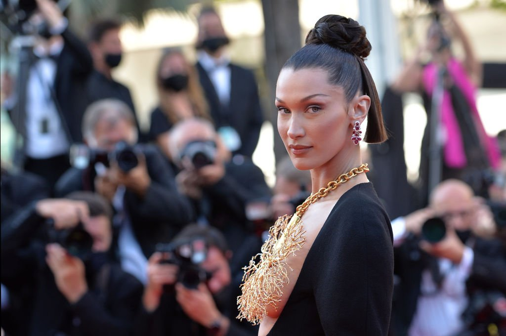 """Bella Hadid at the screening of the film """"Tre Piani"""" during the 74th Annual Cannes Film Festival , July 2021   Source: Getty Images"""