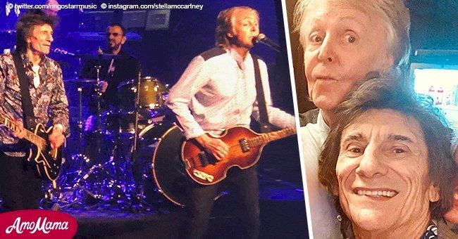 Les légendaires membres des Beatles se réunissent pour un spectacle fantastique de plus